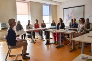 'Stampen met de voeten' tijdens de workshop op het CNV-onderwijs-event (door gerytenbrink photography)